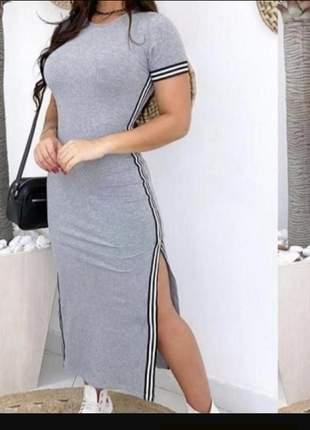 Vestido mid fenda