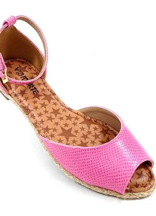 Sandália via marte rosa