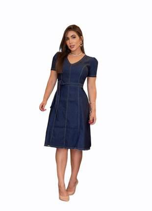 Vestido moda evangélica vestido midi vestido jeans moda cristã