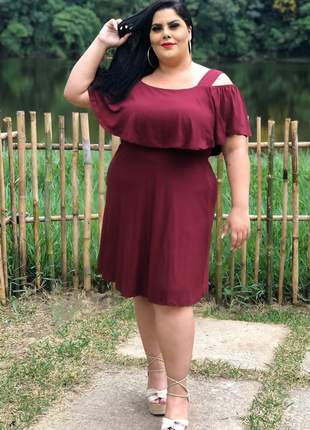 Vestido curto feminino plus size lançamento moda blogueira feminina