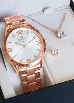 Relógio champion feminino rosê cn25967x original