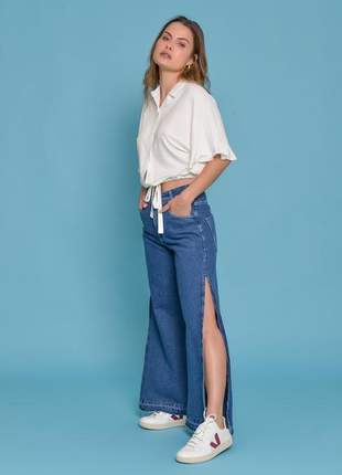 Calça jeans wide @lemier