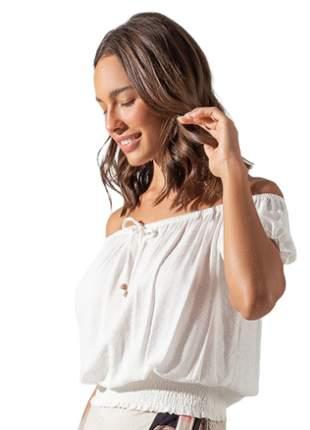 Blusa ciganinha franzida feminina off white coleção nova  e13729022