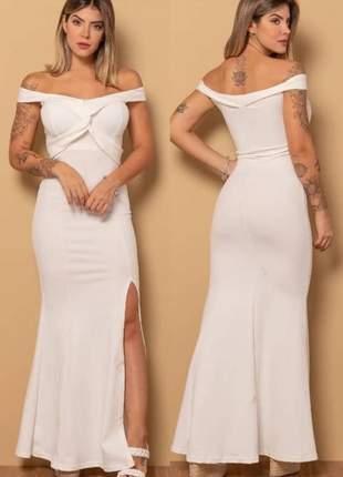 Vestido longo de festa, casamento, madrinha modelo cruzado