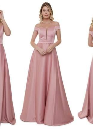 Vestido de festa madrinha de casamento luxo marsala serenity rose