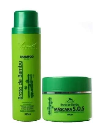 Kit aramath broto de bambú shampoo + hidratação 250g