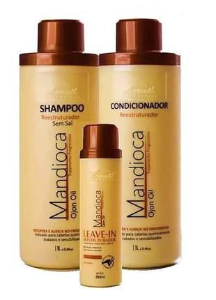 Kit aramath mandioca ojon oil  + leave-in hidratante