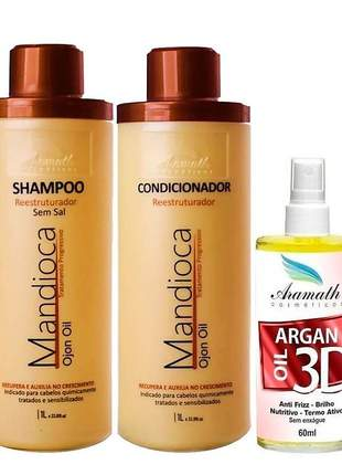 Kit aramath mandioca restruturador profissional ojon oil (3 produtos)