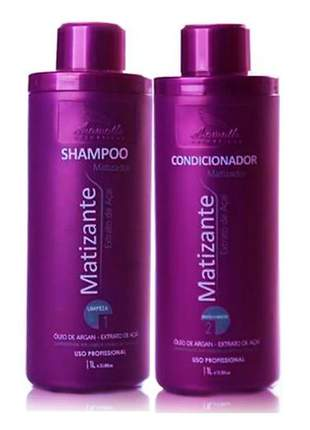 Kit matizante aramath extrato de açaí shampoo e condicionador 2x1lt