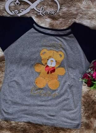 T-shirt feminina urso