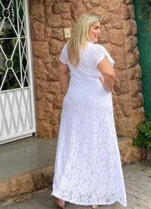 Vestido noiva plus rendado