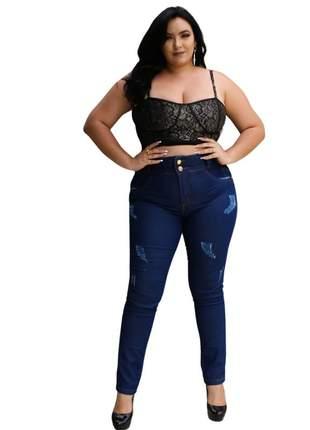 Calca jeans dolce sedutti  plus size cintura alta 601.1