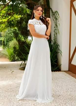 Vestido noiva longo princesa