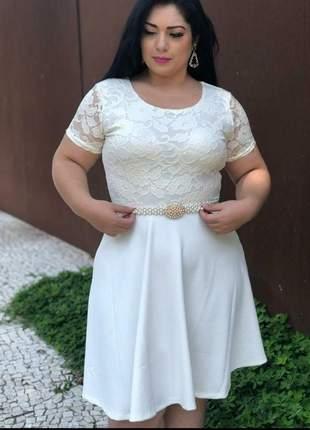 Vestido noiva civil acompanhar cinto de pérolas