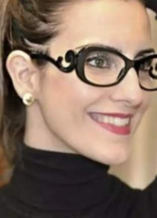Óculos de leitura perto com grau baroque preto blogueiras no grau 1 até 4 para leitura.