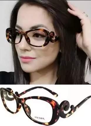 Óculos leitura perto 1 até 4 grau  blogueiras prd +case, cor marrom