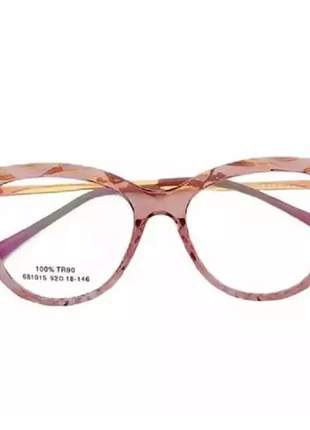 Óculos leitura perto feminina oval lilás, cor rosa  disponível 1 até 4 grau