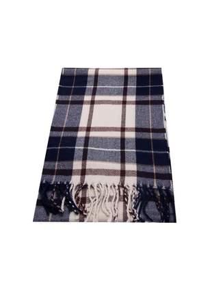 Cachecol em tecido lã sintética em várias opções: verde, azul marinho e preto com bege