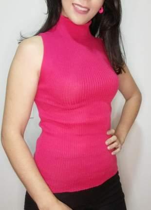 Regata em tricô cacharel gola alta