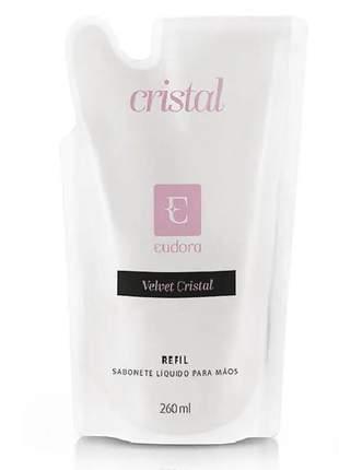 Sabonete líquido para mãos velvet cristal - refil 260ml