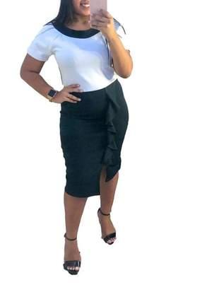 Vestido moda evangélica midi tubinho roupas femininas ref 607