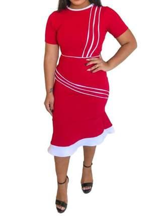 Vestido moda evangélica tubinho midi roupas femininas ref 695