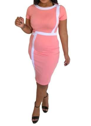Vestido moda evangélica tubinho executiva midi secretaria ref 685