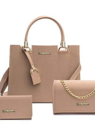 Kit com 3 peças  bolsa grande bolsa festa e carteira
