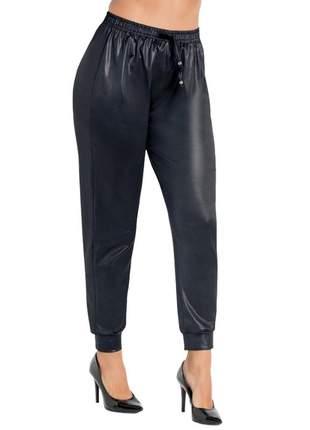 Calça feminina jogger cirrê preta