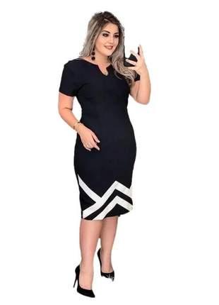 Vestido midi moda evangélica tubinho roupas femininas ref 776