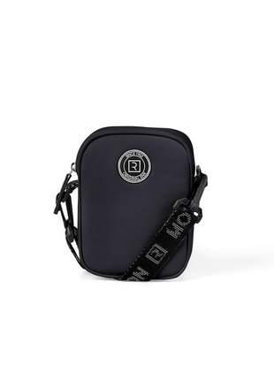Bolsa retangular mini bag bell preta feminina ramarim 121108p