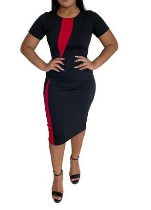 Vestido feminino moda evangélica midi tubinho lançamento ref 644