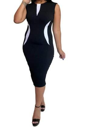 Vestido midi moda evangélica tubinho lindo ref 778