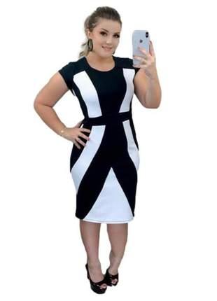 Vestido feminino midi tubinho moda evangélica ref 777