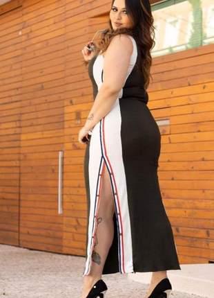 Vestido longuete longo preto marsala elegante detalhe botões