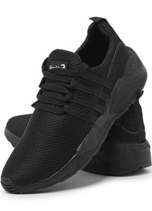 Tênis sneaker runner em nylon leve para academia e caminhada