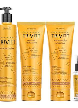 Kit itallian trivitt cauterização home care (4 produtos)