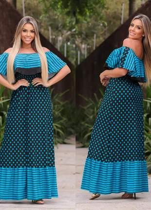 Vestido moda feminina babado rodado blogueira