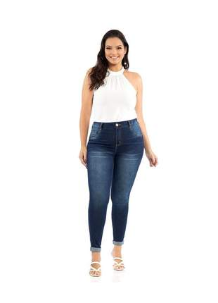 Calça biotipo jeans feminina skinny midi plus size 27051