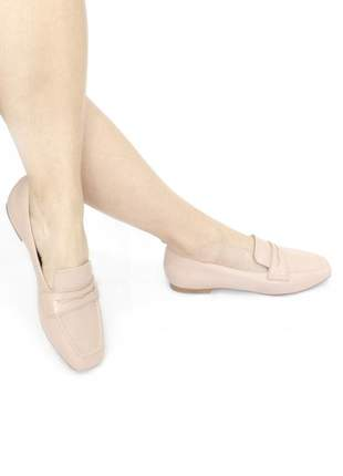Loafer couro adriana nude