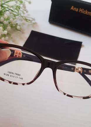 Óculos de grau ana hickmann 2021 várias cores armação moda feminina em promoção