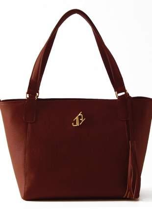 Bolsa de couro shopper johny rafael