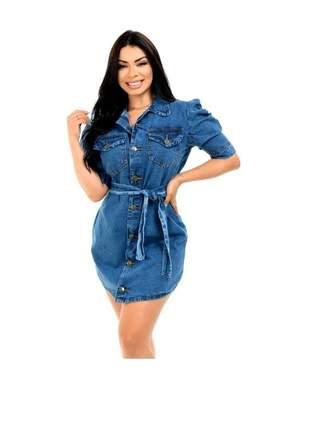 Camisão vestido jeans feminino moda blogueira instagram