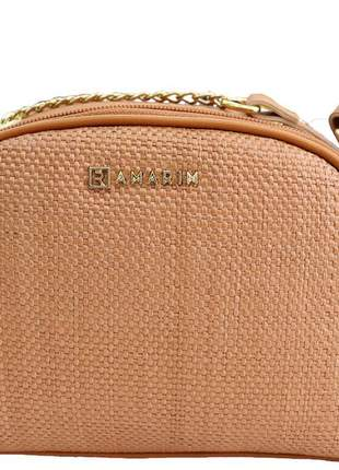 Bolsa pequena correte whisky isadora feminina ramarim  colção nova 121118