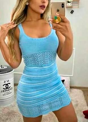 Vestido alcinha tricot verão