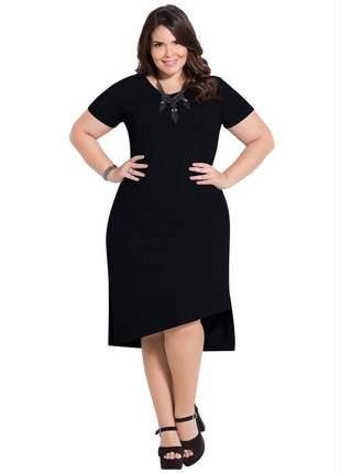 Vestido tubinho plus size assimétrico