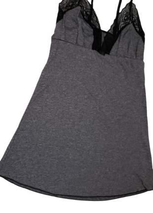 Camisola midi sem bojo de viscolycra com renda adulto pijama verão