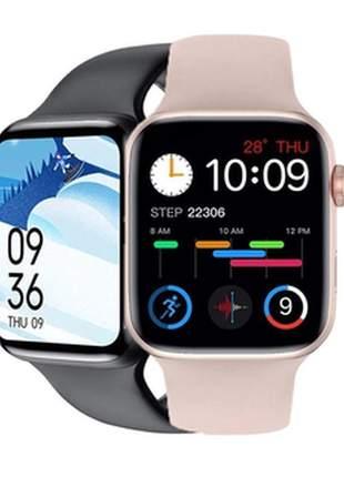 Smartwatch iwo 8 lite atualizado com tela infinita recebe/realiza chamadas bluetooth