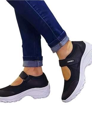 Tênis sapatilha sapato boneca lirom em couro confortável anatomico e leve