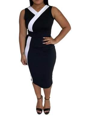 Vestido moda evangelica tubinho roupas femininas ref 654